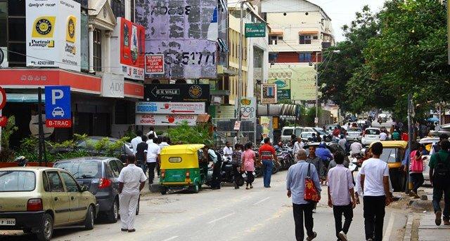 Church Street in Bangalore. Image credit: www.ehabweb.net